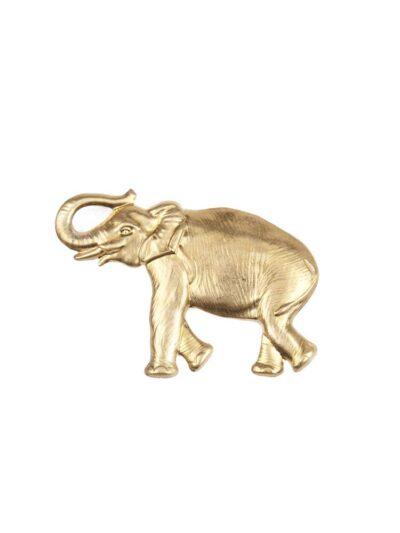 Broche en forma de elefante.Dimensiones: 70x50 mm.