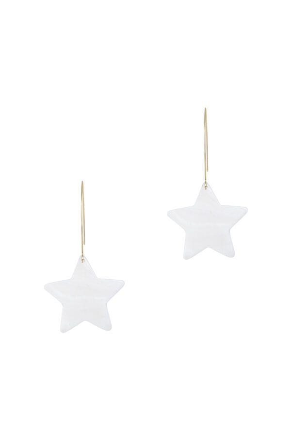 Pendiente para colgar con estrella nacar ideal para cualquier ocasion.