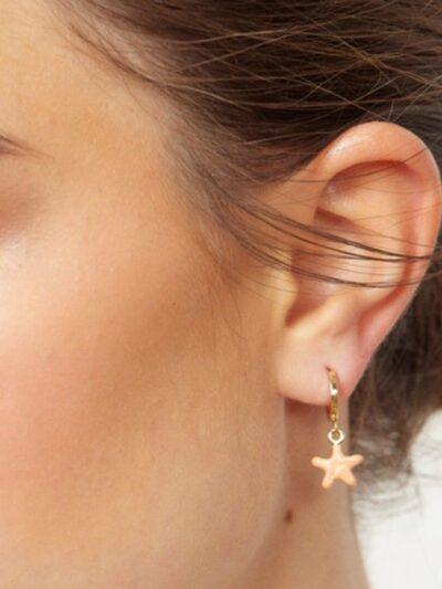 Argolla estrella coral.