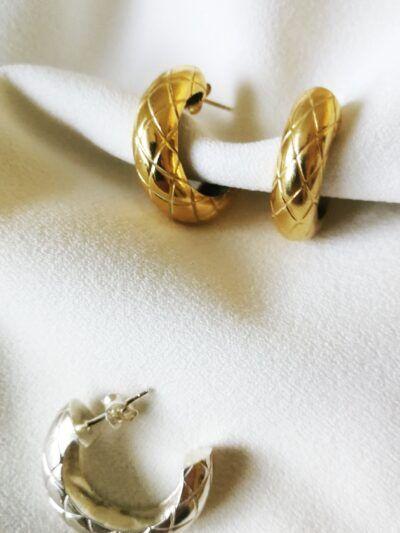 Pendientes criollas dorado plateado oro rosa trepille complementos