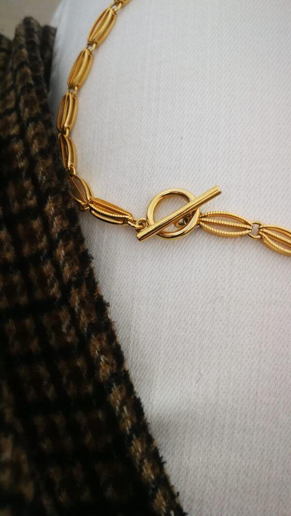 collar eslabones dorado estilo antiguos