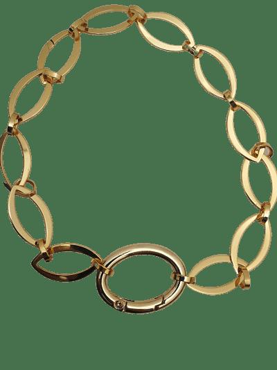 collar eslabon plano dorado largo