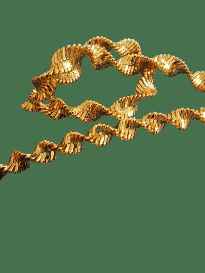 Collar ola rizos dorados Trepille