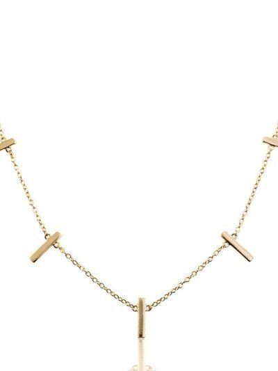 Colgante de plata con barras doradas realizado en plata de Ley 925 con baño de oro de 18 quilates. Trepille