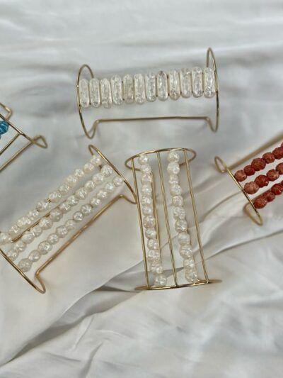 Trepille brazalete perlas oro